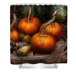 Autumn - Gourd - Pumpkins And Some Other Things  Shower Curtain by Mike Savad