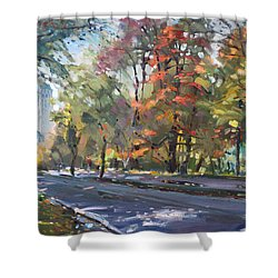 Autumn In Niagara Falls Park Shower Curtain by Ylli Haruni