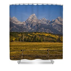 Autumn In The Tetons Shower Curtain by Andrew Soundarajan