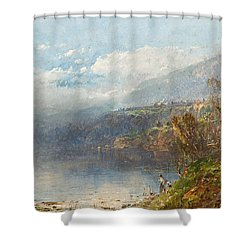 Autumn On The Androscoggin Shower Curtain by William Sonntag
