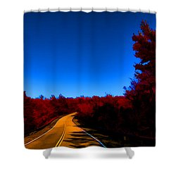 Autumn Red Shower Curtain by Douglas Barnard