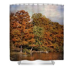 Autumn's Edge Shower Curtain by Jai Johnson