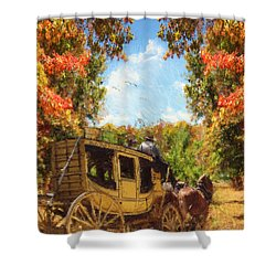 Autumn's Essence Shower Curtain by Lourry Legarde