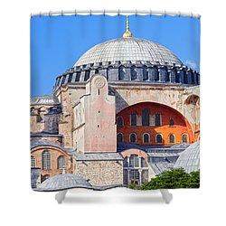 Ayasofya Byzantine Landmark Shower Curtain by Artur Bogacki