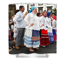 Azorean Folk Music Group Shower Curtain by Gaspar Avila