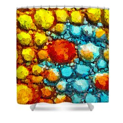 Bacteria 1 Shower Curtain by Angelina Vick