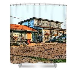 Bait Shop Shower Curtain by Barry Jones