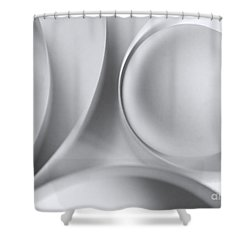 Ball And Curves 04 Shower Curtain by Nailia Schwarz