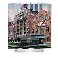 Baltimore Power Plant Shower Curtain by Brian Wallace