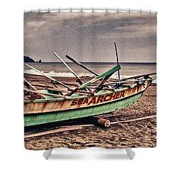 Banca Boat 2 Shower Curtain by Skip Nall