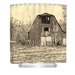 Barn-sepia Shower Curtain by EricaMaxine  Price