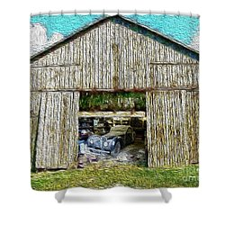 Barn Treasures Shower Curtain by Cheryl Young