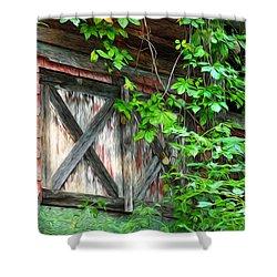 Barn Window Shower Curtain by Bill Cannon