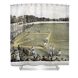 Baseball, 1866 Shower Curtain by Granger