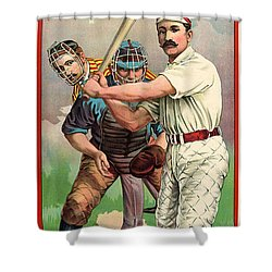 Baseball Player, C1895 Shower Curtain by Granger