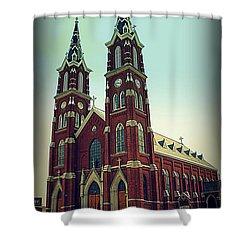 Basilica Of St.francis Xavier In Dyersville Iowa Shower Curtain by Susanne Van Hulst