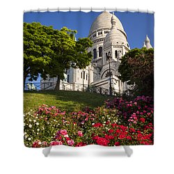 Basilique Du Sacre Coeur Shower Curtain by Brian Jannsen