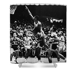 Basketball Game, 1966 Shower Curtain by Granger