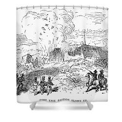 Battle Of Fort Erie, 1814 Shower Curtain by Granger