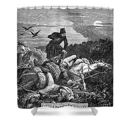 Battle Of Waterloo, 1815 Shower Curtain by Photo Researchers
