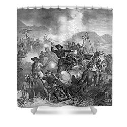 Battle On The Little Big Horn, 1876 Shower Curtain by Photo Researchers