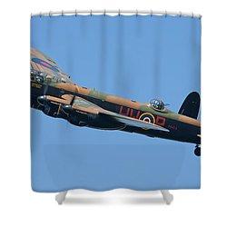 Bbmf Lancaster Bomber 2 Shower Curtain by Ken Brannen