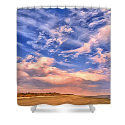 Beach At Sullivan's Island Shower Curtain by Dominic Piperata