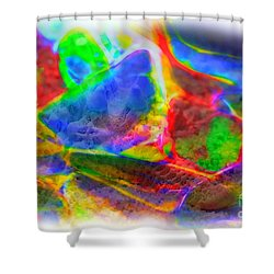 Beach Glass Abstract Shower Curtain by Judi Bagwell