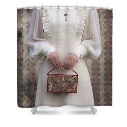 Beaded Handbag Shower Curtain by Joana Kruse