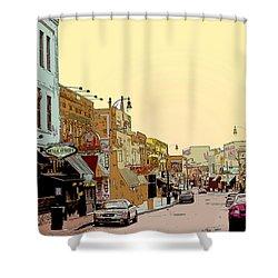 Beale Street Shower Curtain by Barry Jones