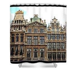 Beautiful Belgian Buildings - Digital Art Shower Curtain by Carol Groenen