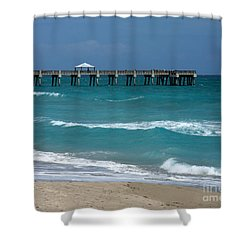 Beautiful Day At The Beach Shower Curtain by Sabrina L Ryan