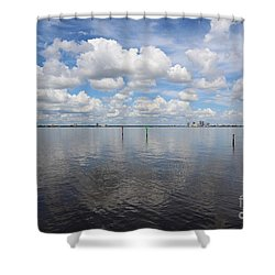 Beautiful Day In Tampa Shower Curtain by Carol Groenen