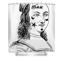 Beauty Spots, 17th Century Shower Curtain by Granger