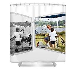 Becoming A Happier Day Shower Curtain by Brian Wallace