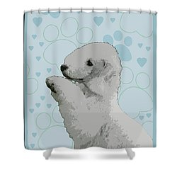 Bedlington Terrier Shower Curtain by One Rude Dawg Orcutt