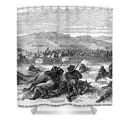 Beecher Island, 1868 Shower Curtain by Granger