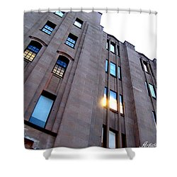 Bell Building Shower Curtain by Danielle  Parent