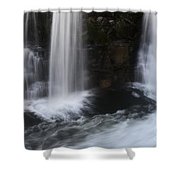 Below The Falls Shower Curtain by Bob Christopher