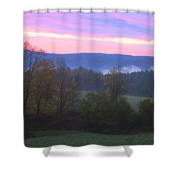 Berkshires Sunrise Shower Curtain by Todd Breitling