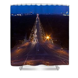 Berlin From The Siegessaule  Shower Curtain by Mike Reid