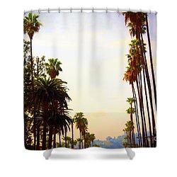 Beverly Hills In La Shower Curtain by Susanne Van Hulst