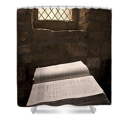 Bible In A Church, Rosedale, North Shower Curtain by John Short