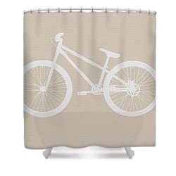 Bicycle Brown Poster Shower Curtain by Naxart Studio