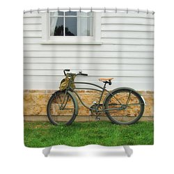 Bicycle By House Shower Curtain by Jill Battaglia