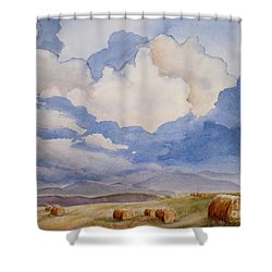 Big Alberta Sky Shower Curtain by Mohamed Hirji