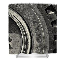 Big Wheel Shower Curtain by Patrick M Lynch