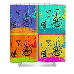 Bike 1b Shower Curtain by Mauro Celotti