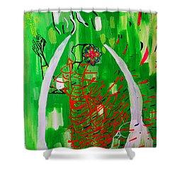 Bikira Maria - Rosa Mystica Shower Curtain by Gloria Ssali