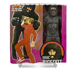 Bionic Bigfoot Shower Curtain by Paul Van Scott